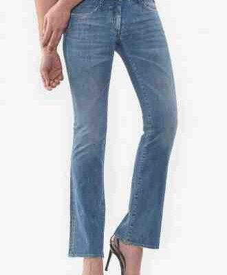 Jeans femme bootcut taille haute